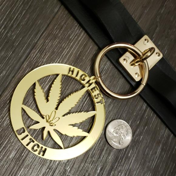 Jewelry - HIGHEST B*TCH CHOKER CANNABIS 420